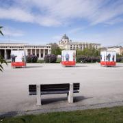 Fernaufnahme der Gedenkaktion am Wiener Heldenplatz © MKÖ / Sebastian Philipp