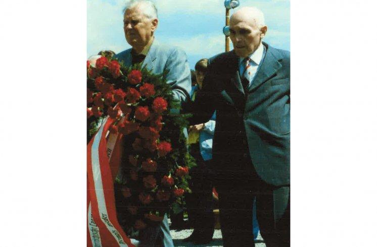 Hans Maršálek Befreiungsfeier KZ-Gedenkstätte Mauthausen 1992