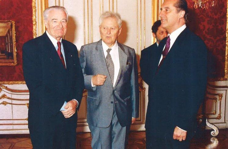 Hans Maršálek Besuch Bundespräsident Klestil