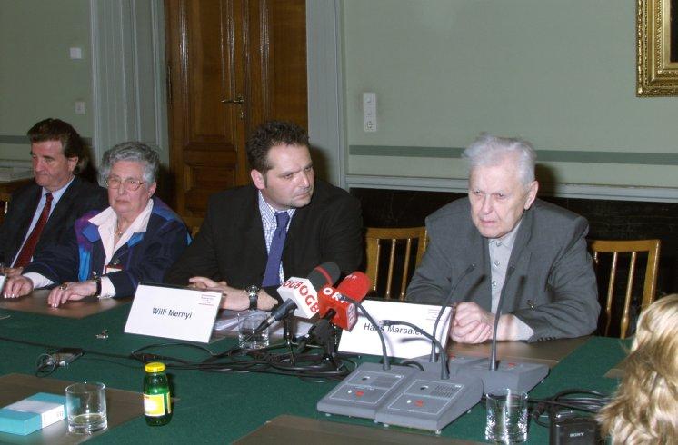 Hans Maršálek Pressekonferenz Europäische Jugendbegegnungsstätte