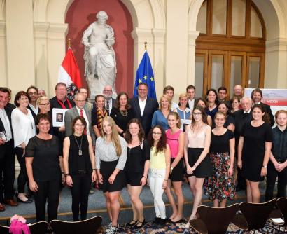 PreisträgerInnen Hans Maršálek Preis 2018 © Parlamentsdirektion / Johannes Zinner