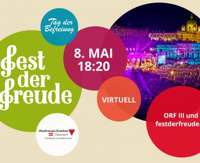 Teaser Virtuelles Fest der Freude am 8. Mai und Befreiungsfeier am 16. Mai 2021